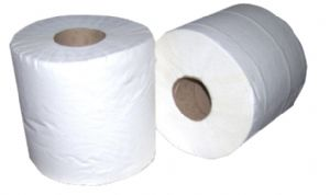 White Centre Feed Rolls 2 Ply 185mm x 150 meters